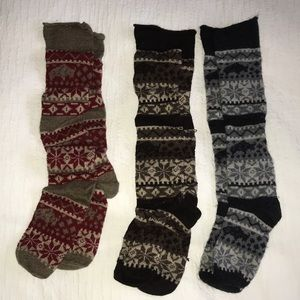 3 Fuzzy Socks/Leg Warmers